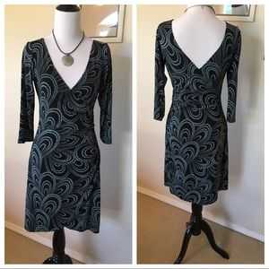 London Times faux wrap dress